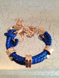 Navy Anchor Rope Bracelet