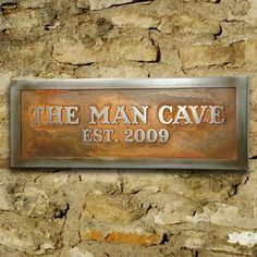 Personalized Man Room Sign, Man Cave Plaque for Him Custom inches The Man Cave - sign for Mike - painted my way of course! Man Cave Diy, Man Cave Home Bar, Man Cave Barn, Man Cave Basement, Man Cave Garage, Man Cave Designs, Bar Designs, Kitchen Designs, Man Cave Plaque