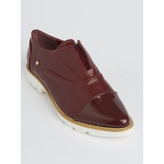Slip-on Oxford Shoes Dark Red