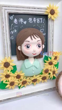 Cute Polymer Clay, Polymer Clay Dolls, Polymer Clay Miniatures, Diy Arts And Crafts, Creative Crafts, Diy Crafts, Clay Art Projects, Polymer Clay Projects, Clay Mugs