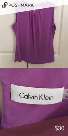 Pretty Lilac summer top This lovely lilac top could pair with white shorts for a dressier look or a pair of skinny jeans,  NWOT.  Never worn, I think it runs a bit small, even though it says medium. Calvin Klein Tops Blouses