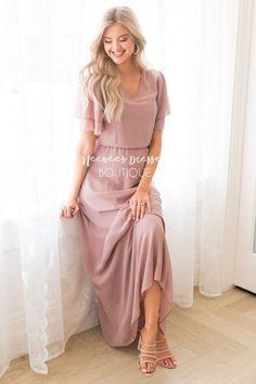the clair Modest Maxi Dress, Modest Skirts, Chiffon Maxi Dress, Modest Outfits, Bridesmaid Dresses With Sleeves, Bridesmaids, Chloe Dress, Pencil Dress, Classy