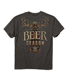 Love this Buck Wear Heather Charcoal 'Beer Season' Tee by Buck Wear on #zulily! #zulilyfinds