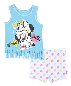 Disney Baby Girls Minnie Mouse 2Piece Knit Fringe Tank and Short Set Capri 12m * You can get additional details at the image link.Note:It is affiliate link to Amazon.