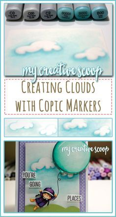 How to Create Clouds using Copic Markers                                                                                                                                                                                 More