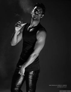 Male fashion & art photography with a homoerotic undertone Hot Guys Smoking, Man Smoking, Metal Fashion, Leather Fashion, Men Smoking Cigarettes, Mens Leather Pants, Men's Leather, Hommes Sexy, Model Photographers