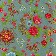 Flowers in the Mix in hellblau | Tapeten nach Muster Blumentapeten - - Tapetenmarkt.de