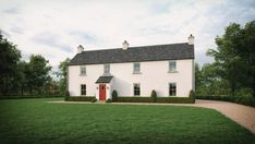 No. 34 - McAleenan NI House Designs Ireland, Old Country Houses, Farmhouse Renovation, Irish Cottage, Cottage Design, Exterior Design, Countryside, Building A House, Mansions