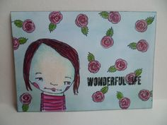 Wonderful Life - stamps from Rubber Moon Mindy Lacefield