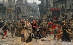 """""""Valdemar Atterdag holding Visby to ransom"""", Carl Gustaf Hellqvist"""