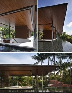 Falling Water, Revisited: Modern Green Pool-Cooled Home