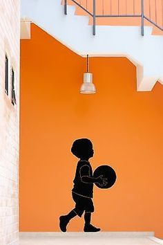 Wall Stickers Vinyl Decal Little Boy With Basketball Ball For Nursery (z1778)