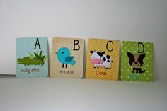 Larger Alphabet Cards 4 x 5 in size. by HandmadecardsbyHJM on Etsy, $70.00