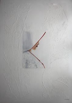 japanese wedding   oil painting   white kimono  116x81 cm  2500 €