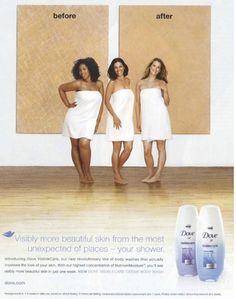 Publicidad Crema Dove.