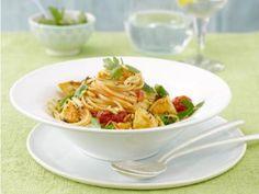 Fruchtig-frische Tomaten-Hähnchen-Linguine #Pasta #Rezepte