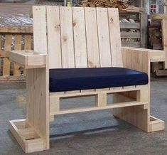 Plans of Woodworking Diy Projects - Sillón individual hecho con palets Get A Lifetime Of Project Ideas & Inspiration! Wooden Pallet Projects, Wooden Pallet Furniture, Woodworking Projects Diy, Wooden Pallets, Wooden Diy, Diy Projects, Pallet Wood, Pallet Ideas, Pallet Chairs