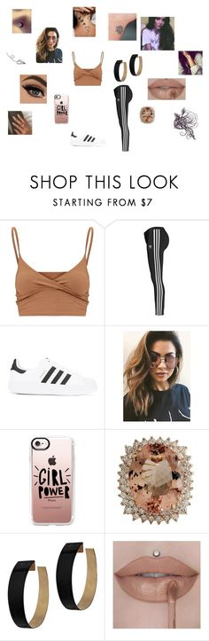 """Athletic Nude"" by hannah-013 ❤ liked on Polyvore featuring adidas Originals, MINKPINK, Casetify, Zimmermann, Ultimate, Tattify, bisexualpride, ashleyfrangipane and mixedpride"