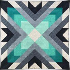 I love this striking quilt patterns Quilt Square Patterns, Patchwork Quilt Patterns, Barn Quilt Patterns, Modern Quilt Patterns, Square Quilt, Patchwork Bags, Sewing Patterns, Quilting Patterns, Simple Quilt Pattern