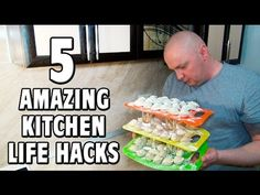 5 Amazing Kitchen Life Hacks Everyone Must Know.  1 - Pringles can turned awesome spaghetti storage.  2 - I and maybe you've been pouring juice wrong. The best way to pour juice - make one more hole.  3 - Cute spice storage ideas. And tic tac can be useful.  4 - Tip for fridge.  5 - How to clean a wood cutting board.