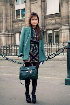 Miroslava Duma in Paris (Citizen Couture) #Hermes #streetstyle