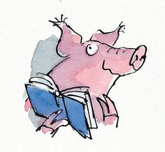 Quentin Blake Dirty Beasts illustration- pig                                                                                                                                                     More