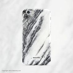 Black Waterfall Marble iPhone Cover by Madotta   Available for iPhones plus some Samsung Galaxy S devices. Made in the UK. Worldwide shipping available. Stylish iPhone 7 Plus Cases  #madotta Click to see more at https://madotta.com/collections/marble-ipho