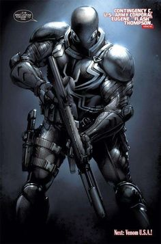 Agent Venom by Clayton Crain (Marvel comics) Comic Book Characters, Marvel Characters, Comic Character, Comic Books Art, Arte Dc Comics, Marvel Comics Art, Marvel Heroes, Venom Wallpaper, Marvel Venom
