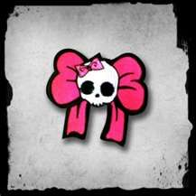 Patch -Cute skull with pink bows | Cybershop