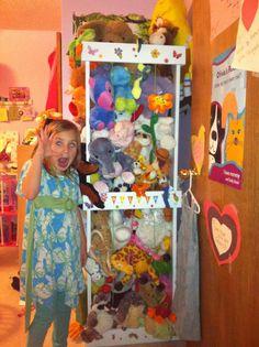 Zoo Keeper stuffed full of her animals!
