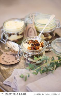 """We gave the traditional Christmas fruit cake a little twist by serving it in a jar with layers of soft butter cream. It's the perfect way give a half eaten Christmas cake a new appearance, """"Christmas cake in a jar""""."""