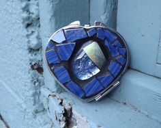 Hey, I found this really awesome Etsy listing at https://www.etsy.com/il-en/listing/173836459/blue-mosaic-heart-make-up-mirror-fused