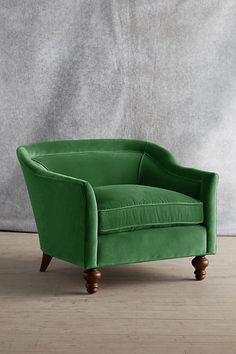 Slide View: 1: Velvet Holloway Armchair