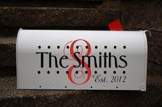 personalized mailbox - cricut and vinyl, I think Silhouette Vinyl, Silhouette Cameo Projects, Vinyl Crafts, Vinyl Projects, Wedding Mailbox, Wedding Cards, Personalized Mailbox, Cricut Creations, Vinyl Cutting
