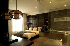 combination master bath and bedroom - Google Search