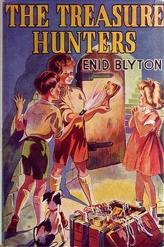 The Treasure Hunters by Enid Blyton 1940 Old Children's Books, Vintage Children's Books, My Books, Enid Blyton Books, Books For Teens, Teen Books, Who Book, Ladybird Books, Animal Books