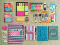 """motivastudy: """" 17:45 // far too excited about my pre-university stationery haul """""""