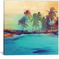 ArtWall Kathy Yates Beautiful Anini Beach Canvas Art 81