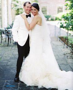 classy wedding | white tux