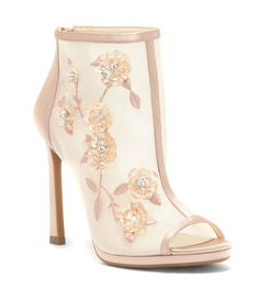 6a26f1f18643 Shop for Jessica Simpson Pedell Floral Embroidery Arylic Flowers and Gems  Peep-Toe Shooties at