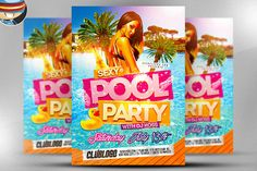 Pool Party Flyer Template by FlyerHeroes on Creative Market
