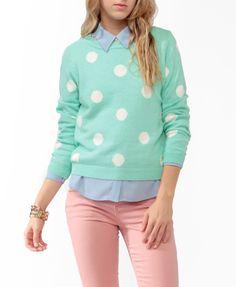 Polka Dot Sweater #sweaterweather