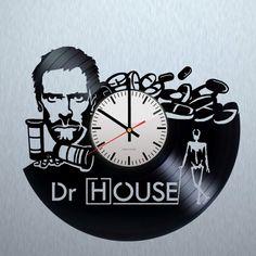 Dr. House Handmade Vinyl Record Wall Clock - VINYL CLOCKS