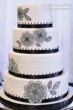 Kates's Black & white cake