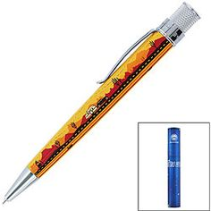 @Overstock - Celebrate summer road trips with a rollerball pen from Retro 51  Fine writing pen is from the Tornado Summer Collection  Pen features a beautifully lacquered exterior with colorful graphicshttp://www.overstock.com/Office-Supplies/Retro-51-Tornado-Summer-Route-66-Rollerball-Pen/4030512/product.html?CID=214117 $18.34