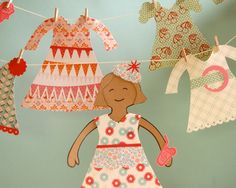 Cute Paper Dolls - Template & instruction by Laurie Cinotto - fiskars