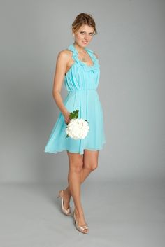 Flirty teal bridesmaid dress #teal #bridesmaids For The Maids | Big Fashion Show teal bridesmaid dresses