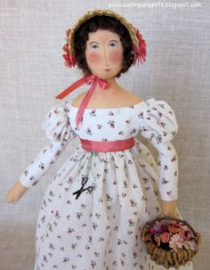 """ A little Jane Austen style lady"". Made by Evi Araujo, eviscountrysnippets.blogspot.com"