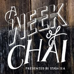 FREE download of our Week of Chai tea recipes. Click through to get the PDF.