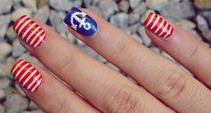 How to: Nautical Nails | Swiish - Fashion, Beauty, & Lifestyle.